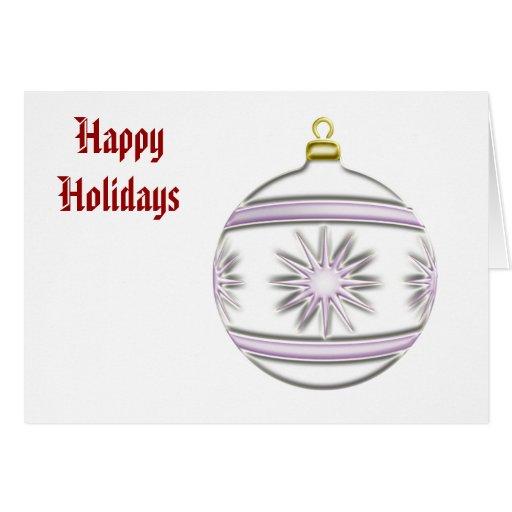 Bola #7 del navidad tarjeta de felicitación