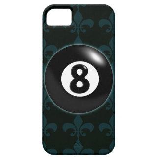 bola 8 con la flor de lis iPhone 5 carcasa