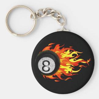 Bola 8 el flamear llaveros personalizados