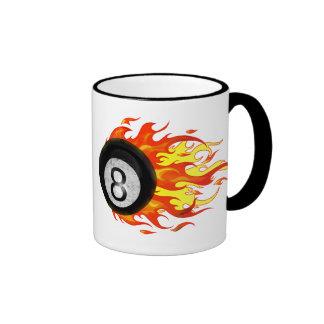 Bola 8 el flamear taza de dos colores
