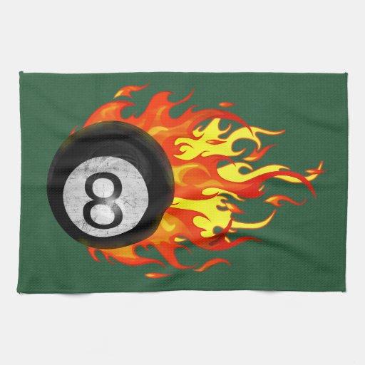 Bola 8 el flamear toalla de cocina