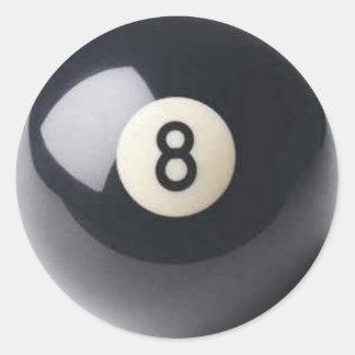bola 8 etiquetas redondas