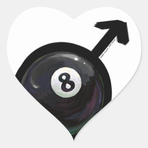 Bola 8 pegatinas de corazon personalizadas