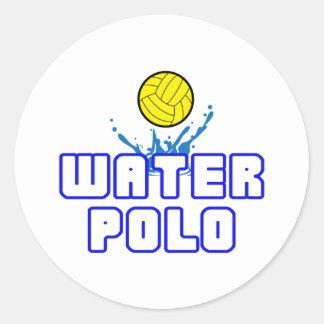 BOLA ABIERTA DEL WATER POLO PEGATINA REDONDA