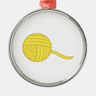 Bola amarilla del hilado adorno para reyes