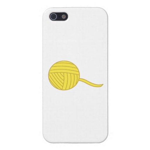 Bola amarilla del hilado iPhone 5 cobertura