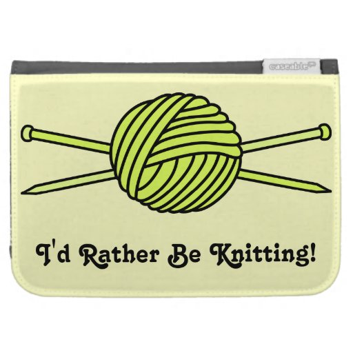 Bola amarilla del hilado y de las agujas que hacen
