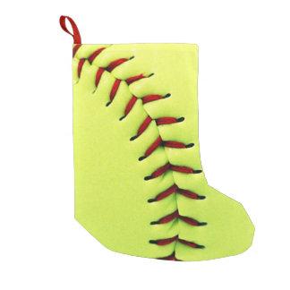 Bola amarilla del softball bota navideña pequeña