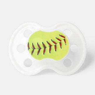 Bola amarilla del softball chupetes para bebes