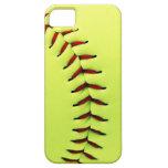 Bola amarilla del softball iPhone 5 Case-Mate cárcasas