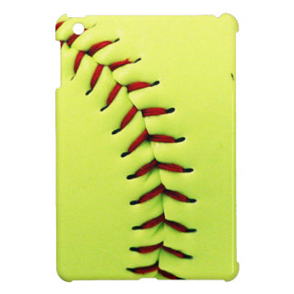 Bola amarilla del softball iPad mini carcasas
