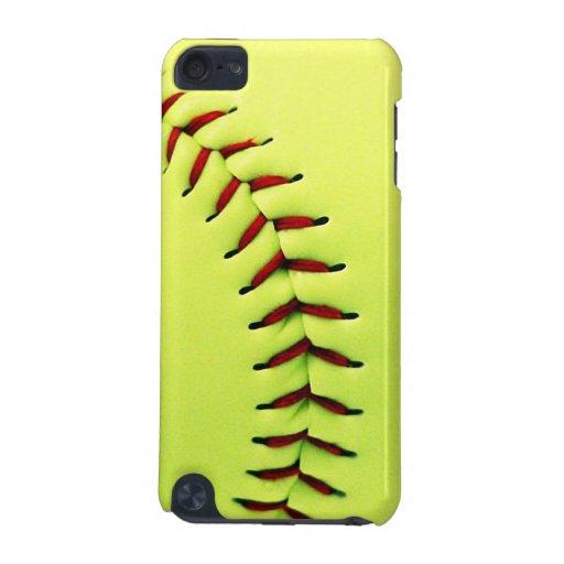 Bola amarilla del softball funda para iPod touch 5G