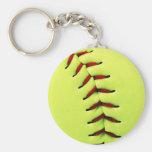 Bola amarilla del softball llavero