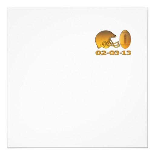 bola americana de oro 2013 del casco de fútbol ame comunicados personales