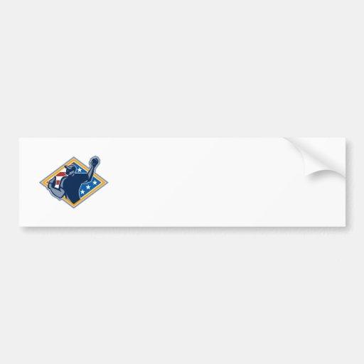 Bola americana del tiro de la jarra del béisbol re etiqueta de parachoque