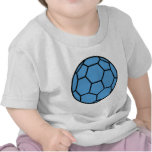 bola azul del balonmano camiseta