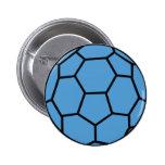 bola azul del balonmano pin