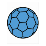 bola azul del balonmano tarjetas postales
