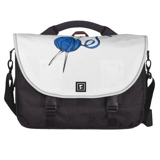 Bola azul del hilado bolsas para ordenador