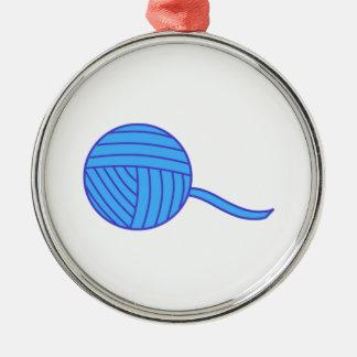 Bola azul del hilado ornamentos para reyes magos