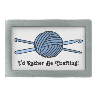 Bola azul del hilado (punto y ganchillo) hebilla de cinturón rectangular