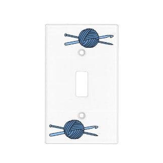 Bola azul del hilado (punto y ganchillo) tapas para interruptores