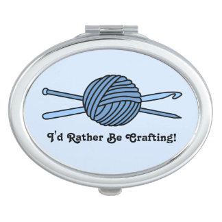 Bola azul del hilado (punto y ganchillo - versión espejo compacto
