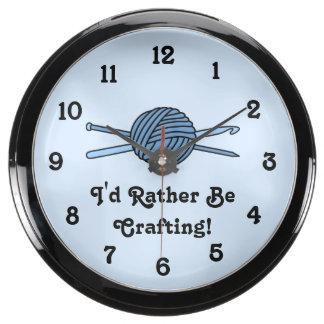 Bola azul del hilado (punto y ganchillo - versión  reloj aquavista