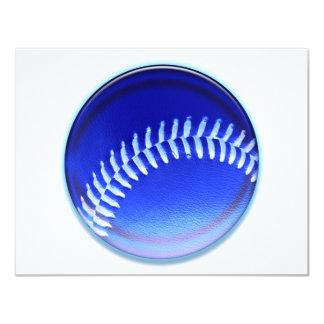 """Bola azul invitación 4.25"""" x 5.5"""""""