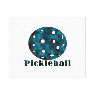 bola azul nublada pickleball .png del texto n lona envuelta para galerias