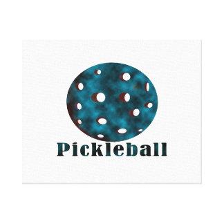 bola azul nublada pickleball .png del texto n impresión en lienzo estirada