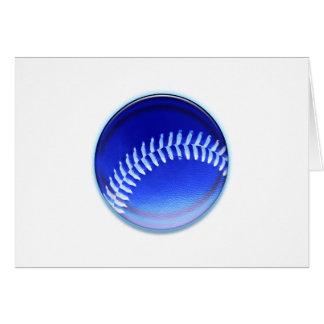 Bola azul tarjeta de felicitación