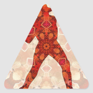 bola baja pegatina triangular