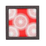 bola blanca en arte abstracto rojo cajas de joyas de calidad