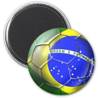 Bola brasileña de la bandera del fútbol de la samb imanes