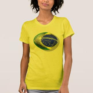 Bola brasileña de la bandera del fútbol de la samb camisetas