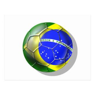 Bola brasileña de la bandera del fútbol de la samb tarjeta postal