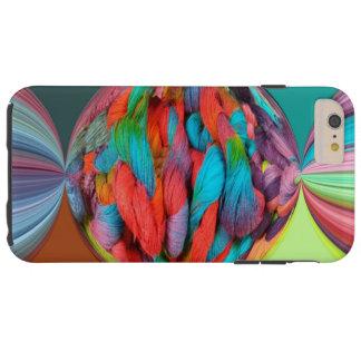 Bola brillante de las madejas multicoloras del funda para iPhone 6 plus tough