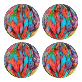 Bola brillante de las madejas multicoloras del paquete grande de tapa botones