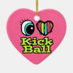 Bola brillante del retroceso del amor del corazón  adorno de navidad
