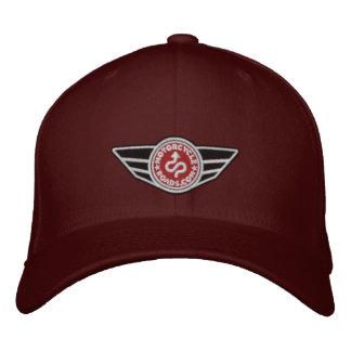 Bola-casquillo marrón con el logotipo bordado rojo gorra de béisbol bordada