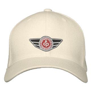 Bola-casquillo natural con el logotipo bordado roj gorra de béisbol bordada
