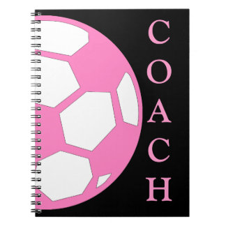 Bola-Coche rosado del fútbol Libreta