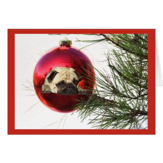 Bola colgante de la tarjeta de Navidad del barro a