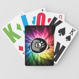 Bola colorida 8 cartas de juego