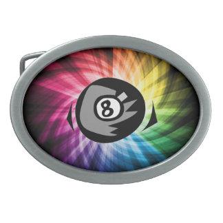 Bola colorida 8 hebillas cinturon ovales