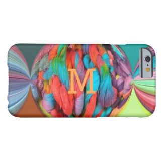 Bola colorida de las madejas brillantemente funda de iPhone 6 barely there