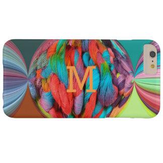 Bola colorida de las madejas brillantemente funda para iPhone 6 plus barely there