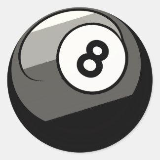 Bola cómica del estilo 8 etiqueta