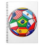 bola con las banderas cuaderno